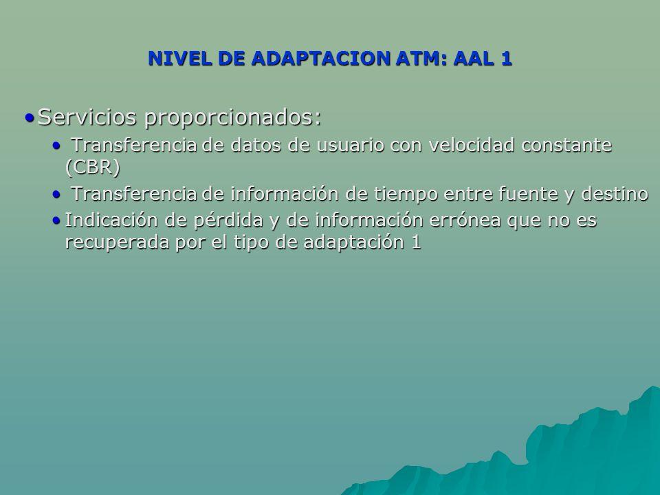 NIVEL DE ADAPTACION ATM: AAL 1