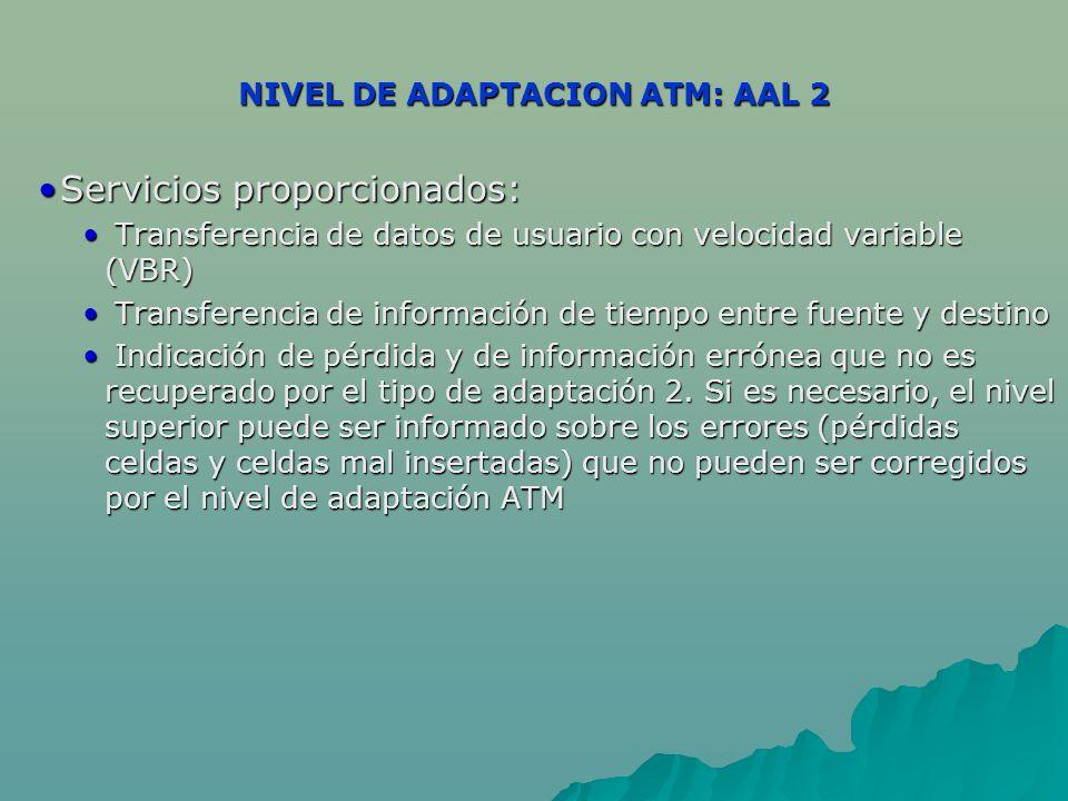 NIVEL DE ADAPTACION ATM: AAL 2