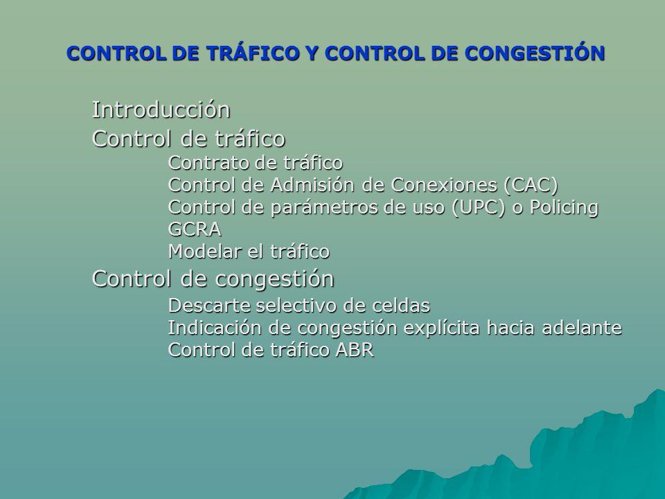 CONTROL DE TRÁFICO Y CONTROL DE CONGESTIÓN