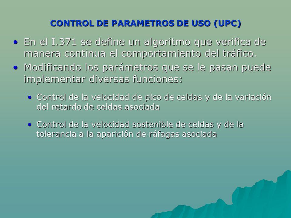 CONTROL DE PARAMETROS DE USO (UPC)