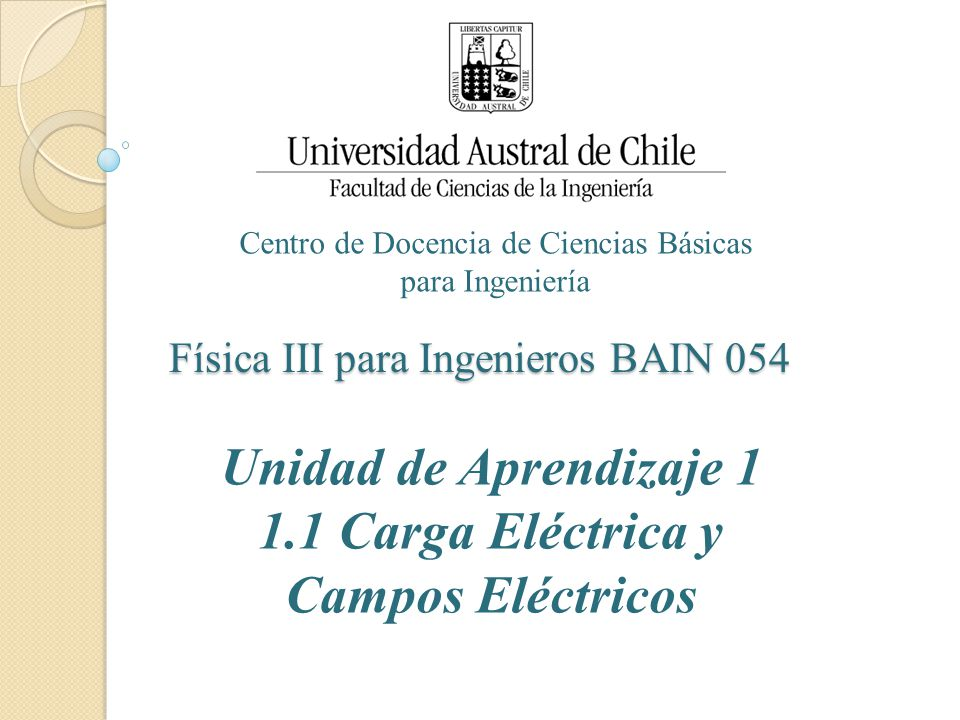 Física III para Ingenieros BAIN 054
