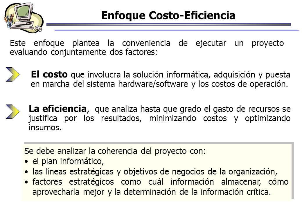 Enfoque Costo-Eficiencia