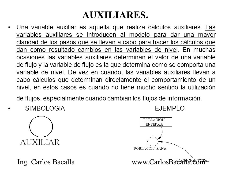 AUXILIARES.
