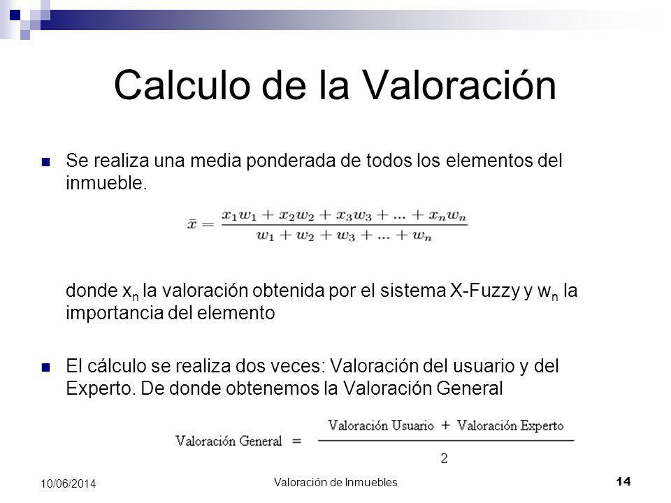 Calculo de la Valoración