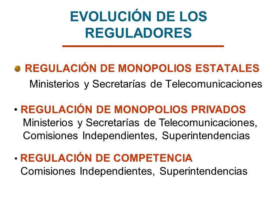 EVOLUCIÓN DE LOS REGULADORES