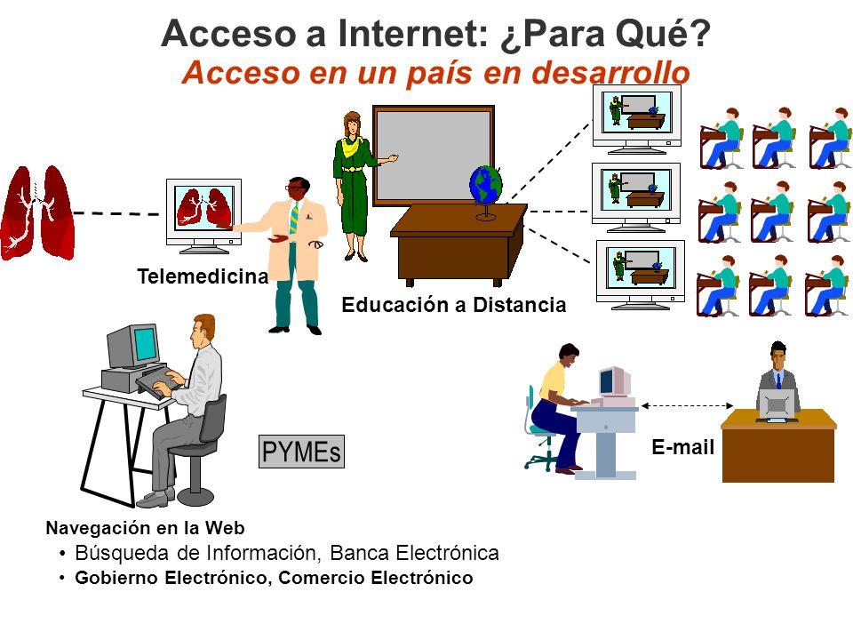 Acceso a Internet: ¿Para Qué Acceso en un país en desarrollo