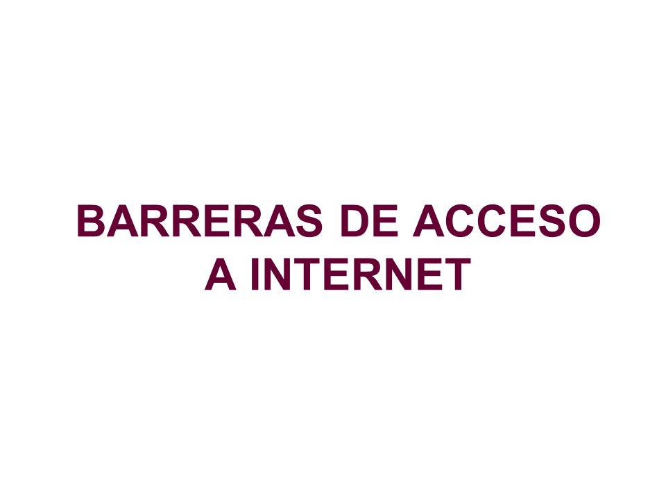 BARRERAS DE ACCESO A INTERNET
