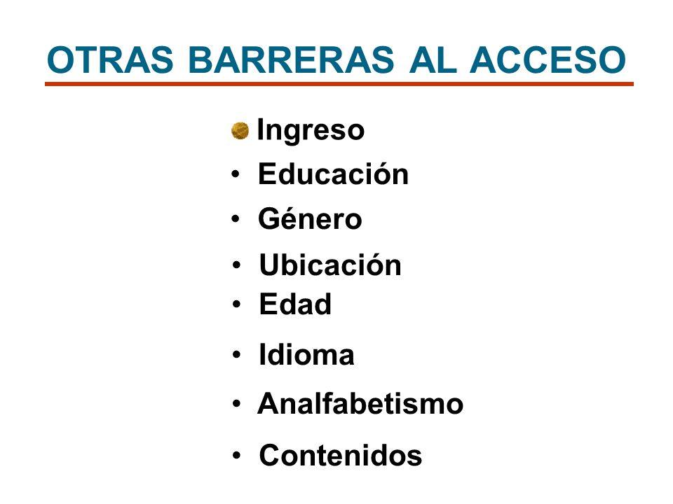OTRAS BARRERAS AL ACCESO