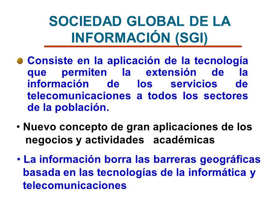SOCIEDAD GLOBAL DE LA INFORMACIÓN (SGI)