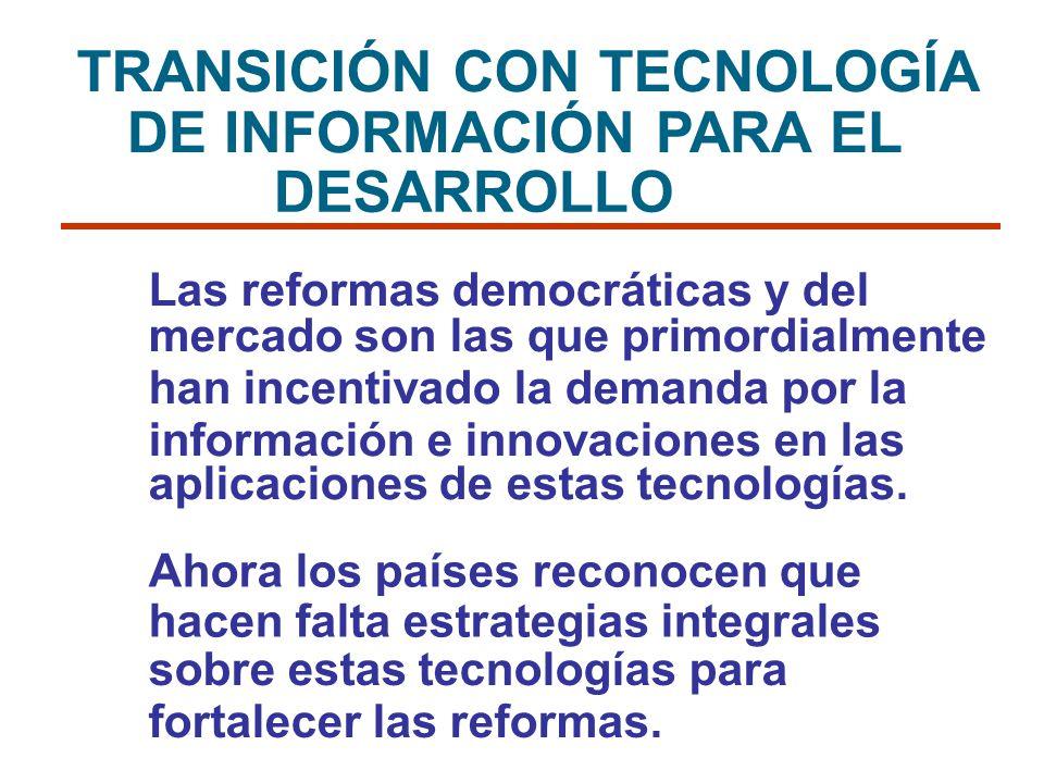 TRANSICIÓN CON TECNOLOGÍA DE INFORMACIÓN PARA EL DESARROLLO