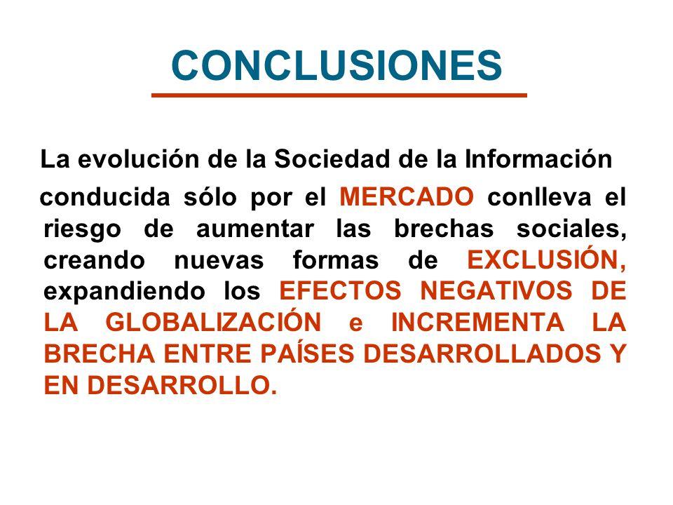CONCLUSIONES La evolución de la Sociedad de la Información