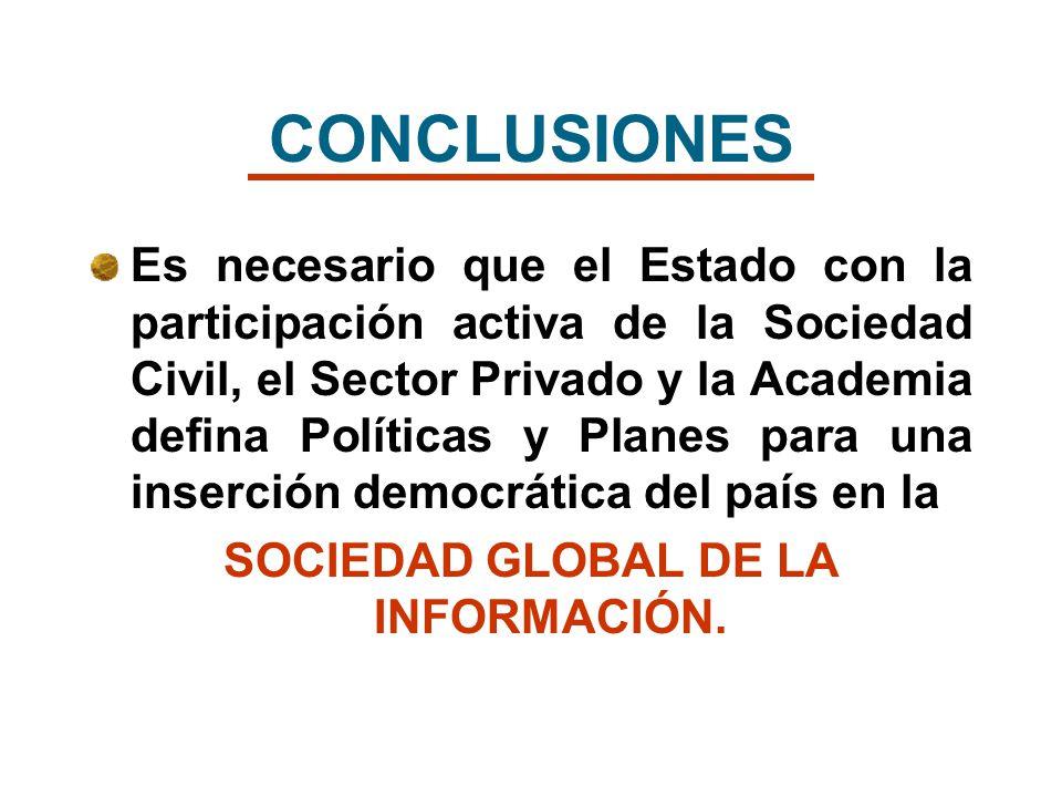 SOCIEDAD GLOBAL DE LA INFORMACIÓN.
