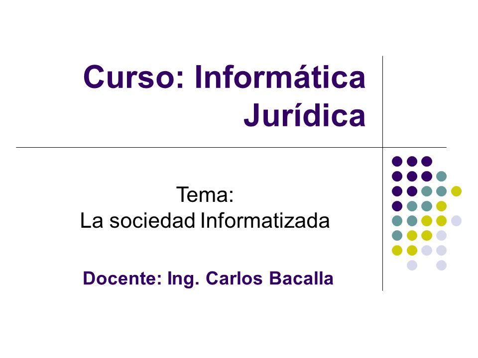 Curso: Informática Jurídica