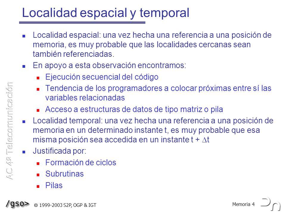 Localidad espacial y temporal