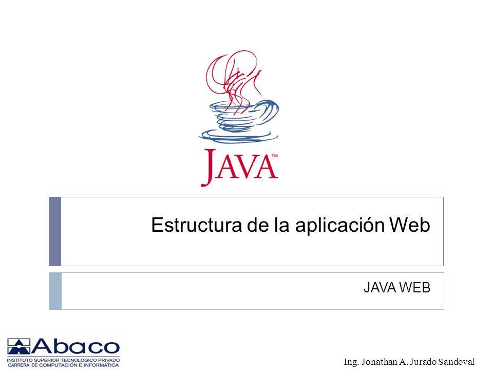 Estructura de la aplicación Web