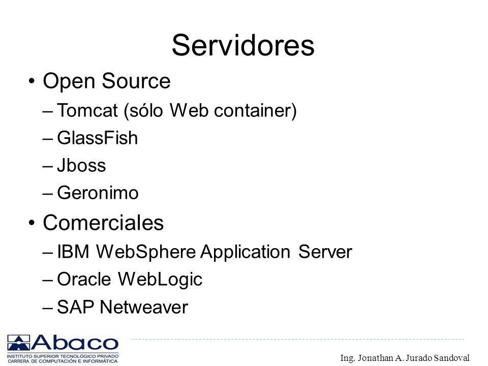 Servidores Open Source Comerciales Tomcat (sólo Web container)