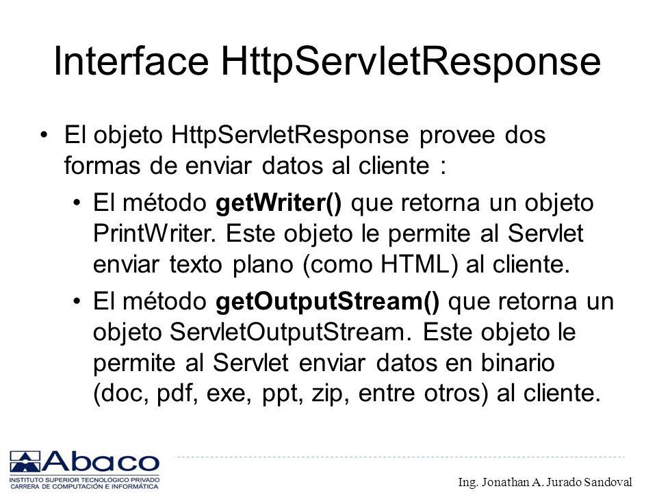 Interface HttpServletResponse