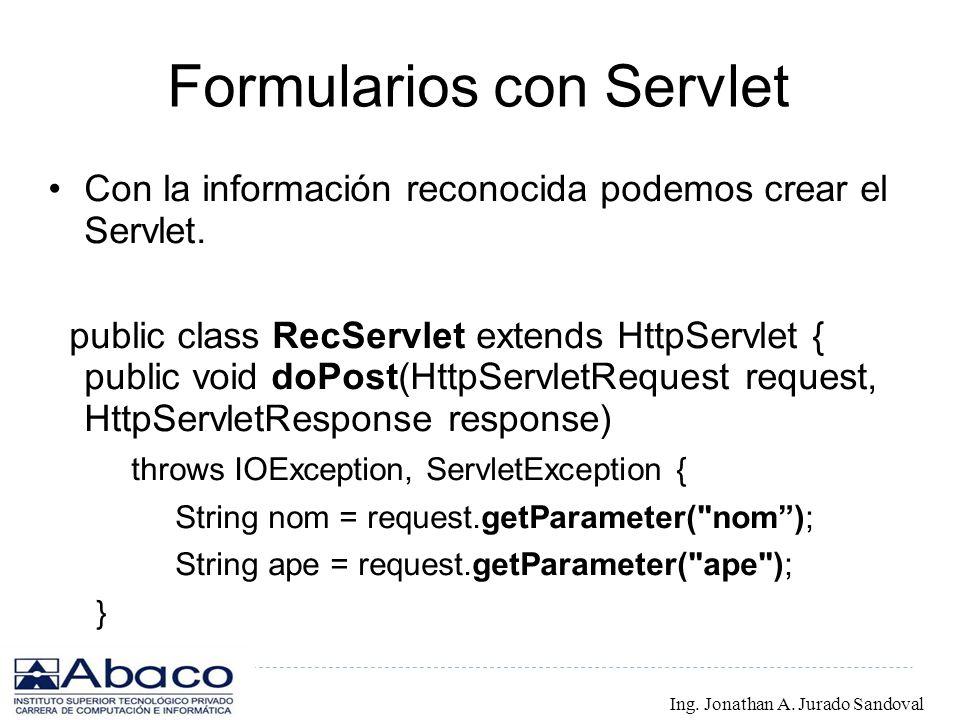 Formularios con Servlet