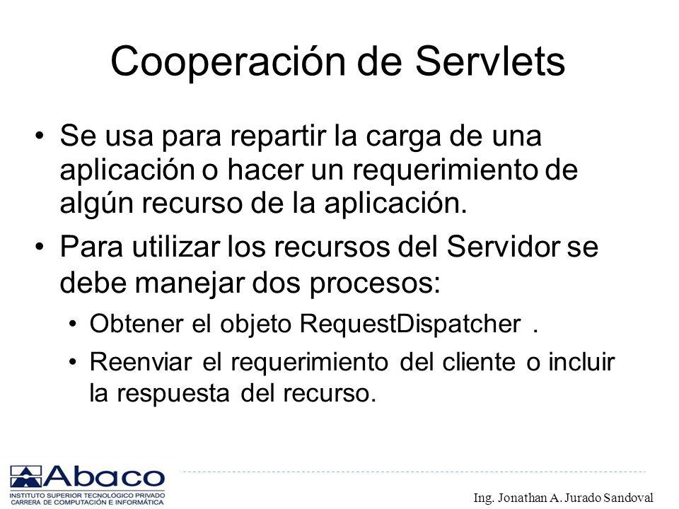 Cooperación de Servlets
