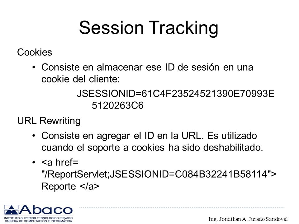 Session Tracking Cookies