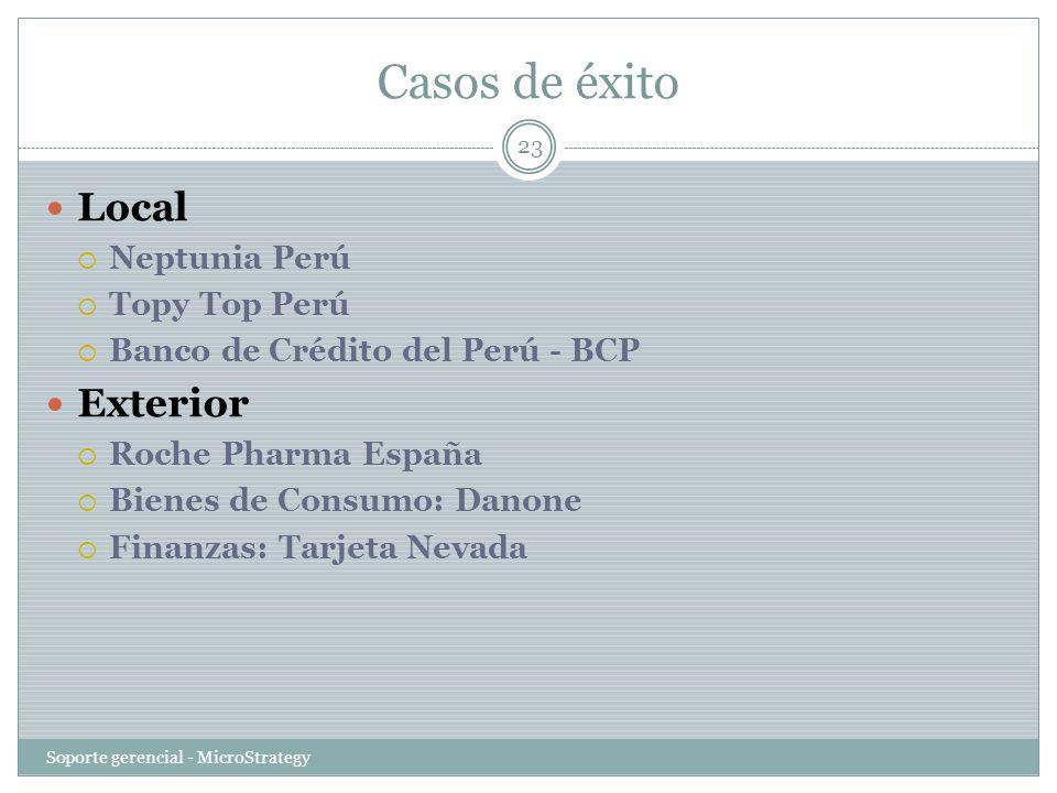 Casos de éxito Local Exterior Neptunia Perú Topy Top Perú