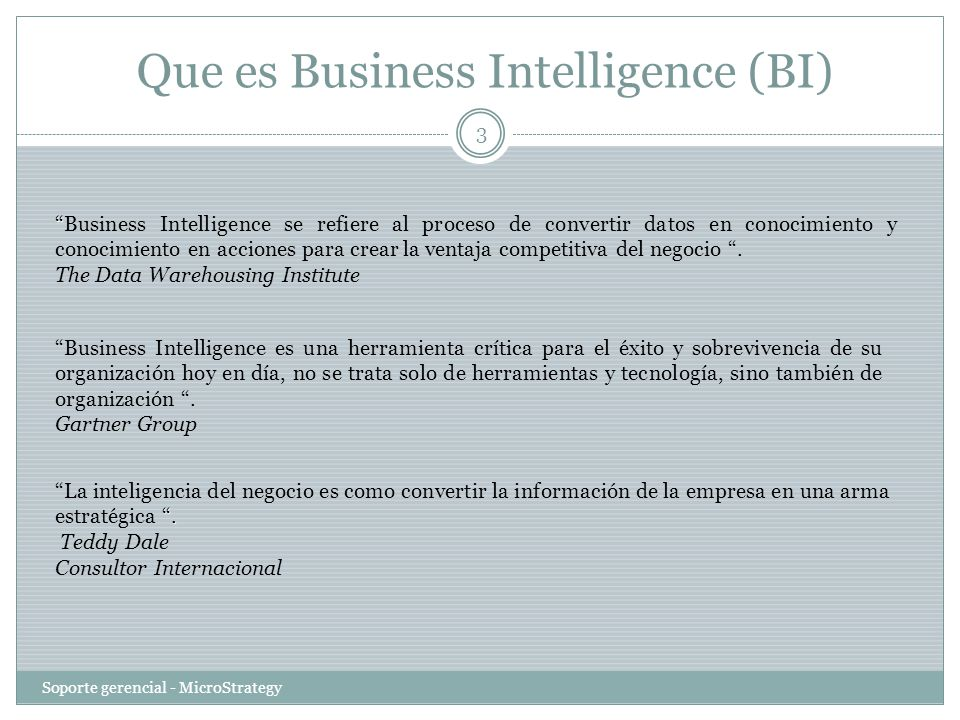 Que es Business Intelligence (BI)