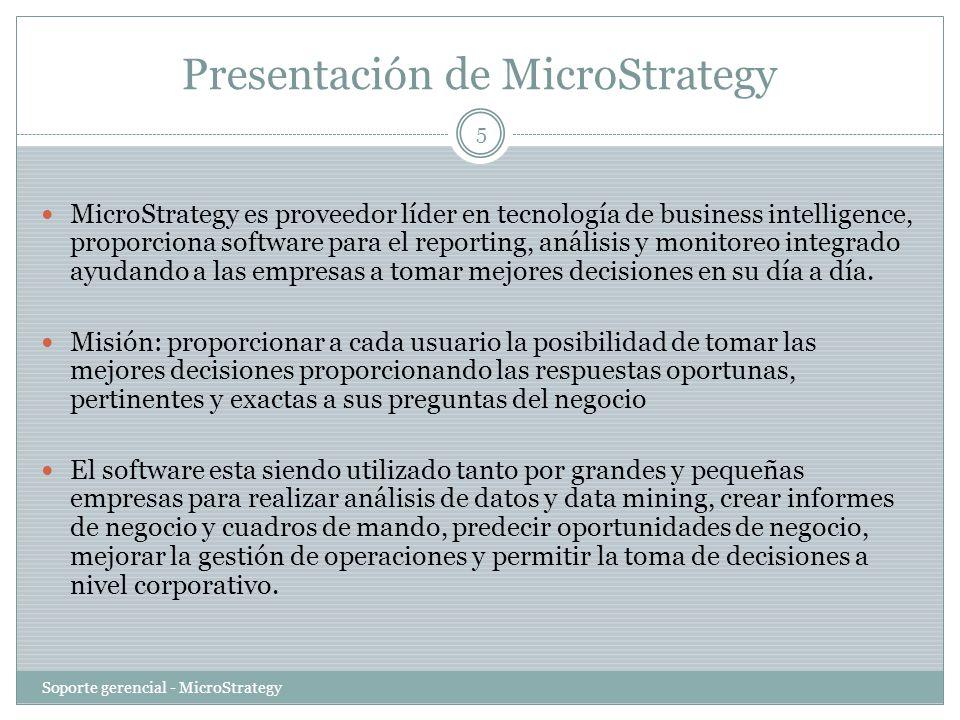 Presentación de MicroStrategy