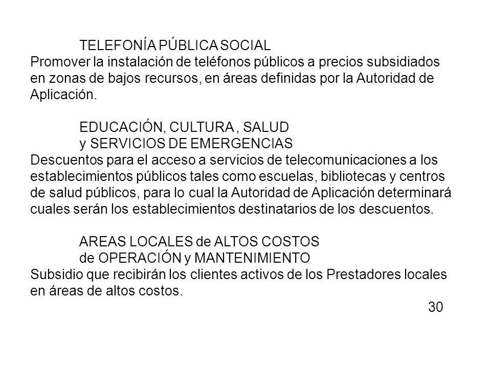 TELEFONÍA PÚBLICA SOCIAL
