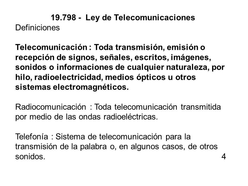 19.798 - Ley de Telecomunicaciones