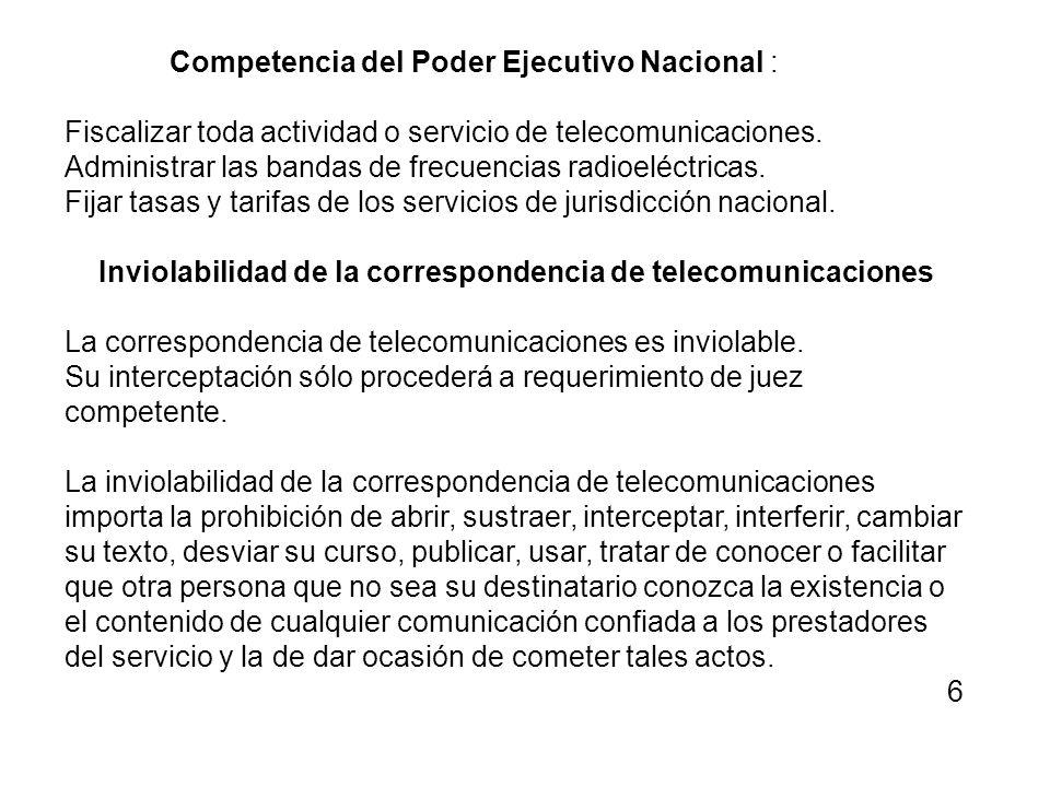 Inviolabilidad de la correspondencia de telecomunicaciones