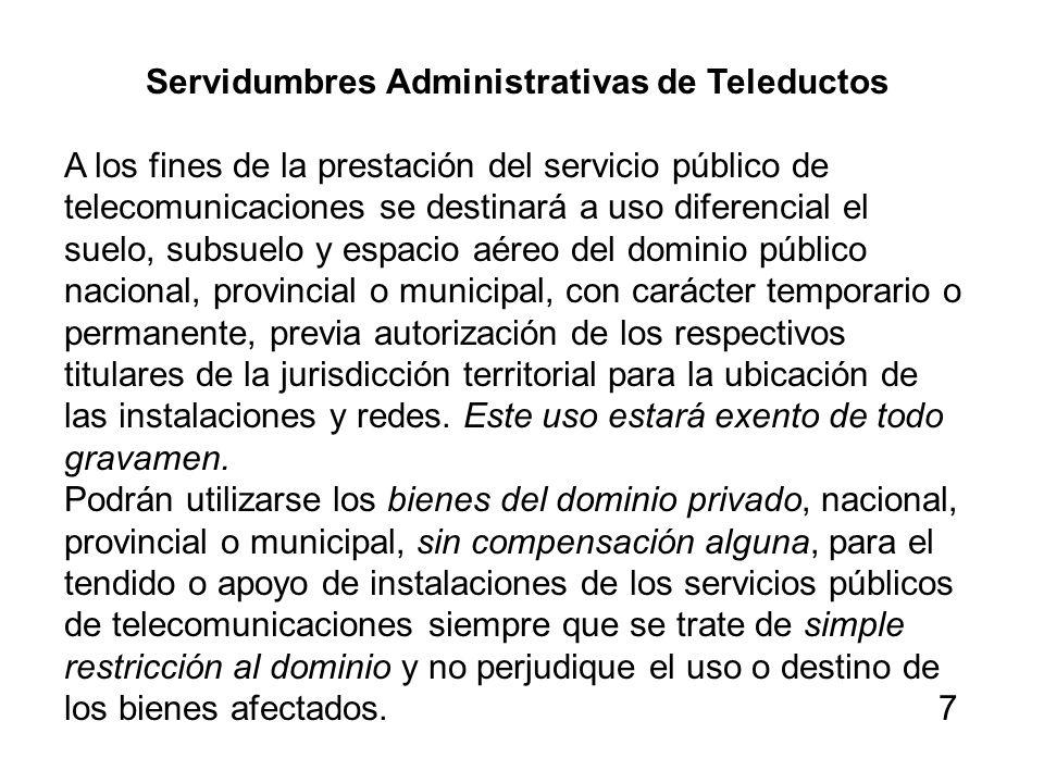 Servidumbres Administrativas de Teleductos