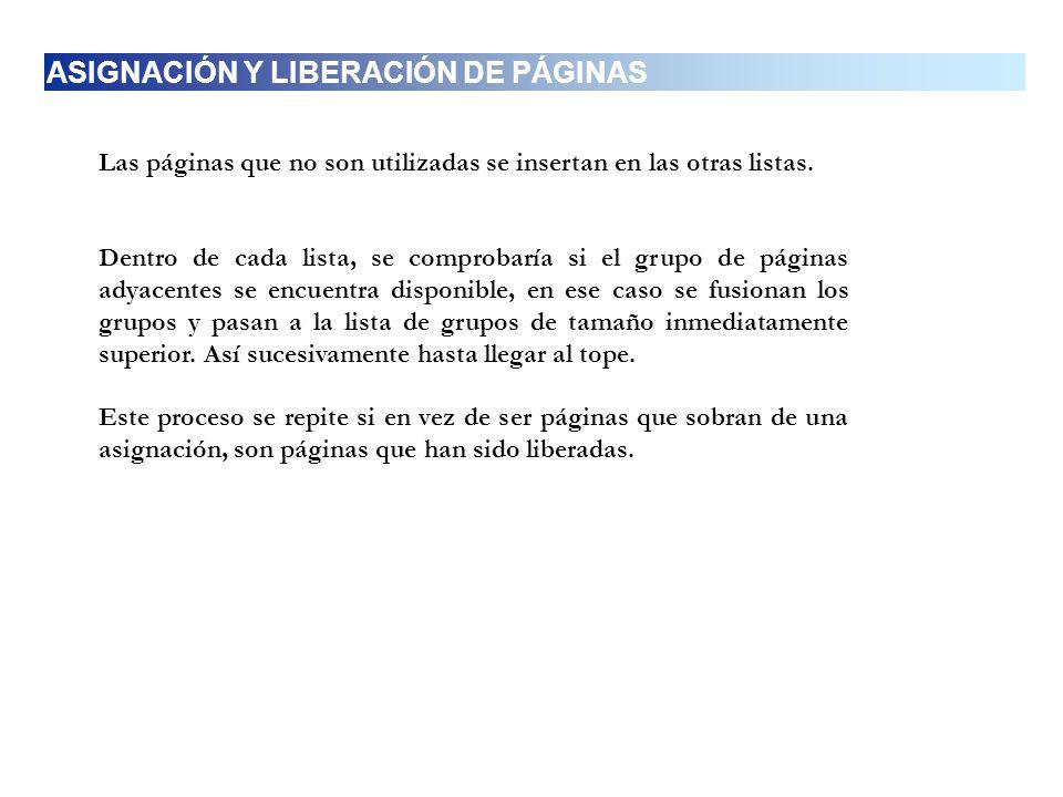 ASIGNACIÓN Y LIBERACIÓN DE PÁGINAS