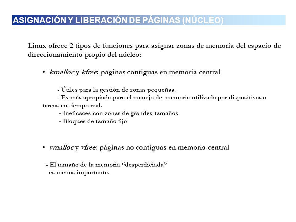 ASIGNACIÓN Y LIBERACIÓN DE PÁGINAS (NÚCLEO)