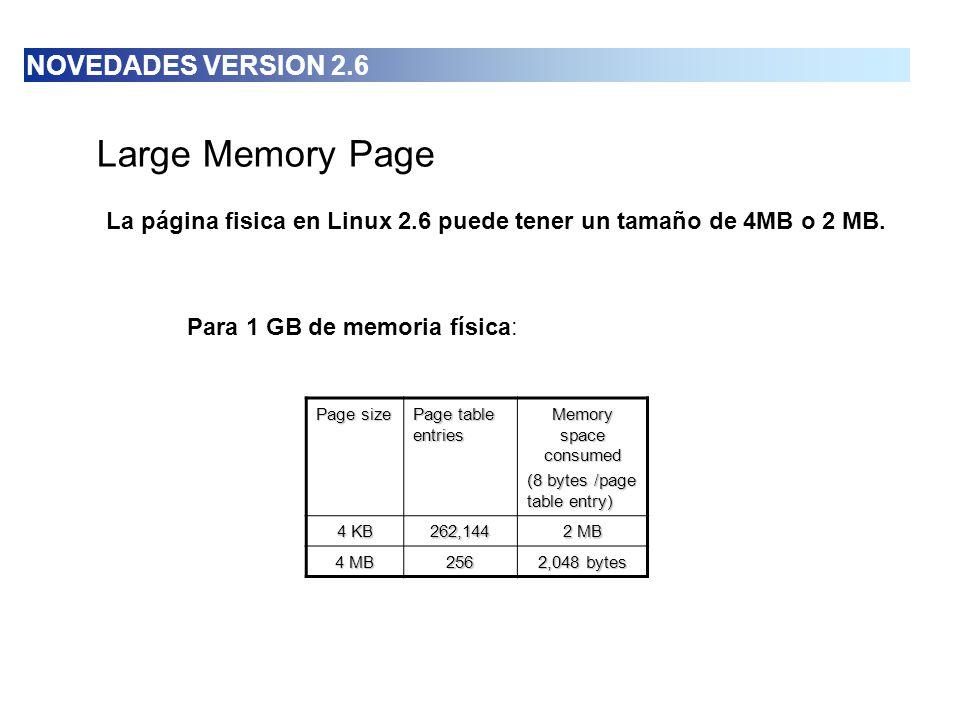 Large Memory Page NOVEDADES VERSION 2.6