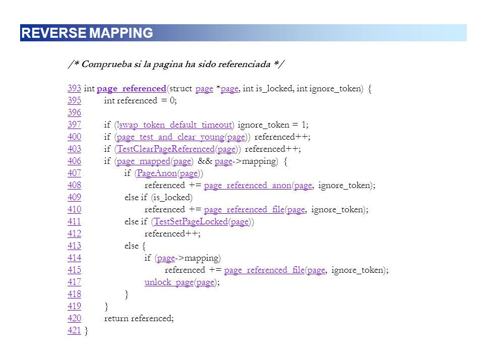 REVERSE MAPPING /* Comprueba si la pagina ha sido referenciada */