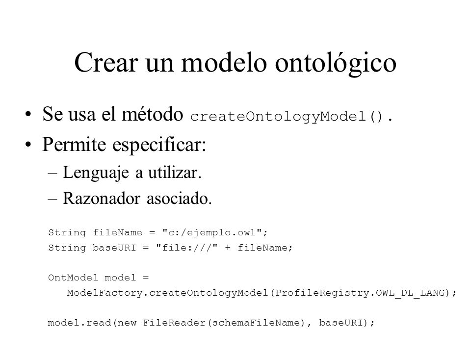 Crear un modelo ontológico