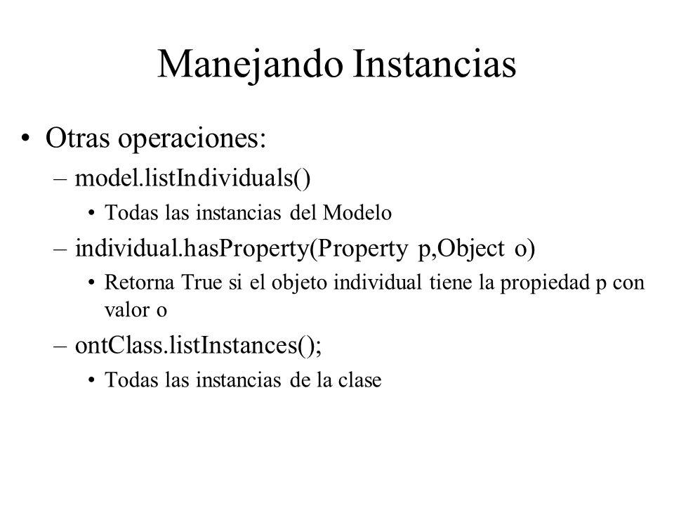Manejando Instancias Otras operaciones: model.listIndividuals()