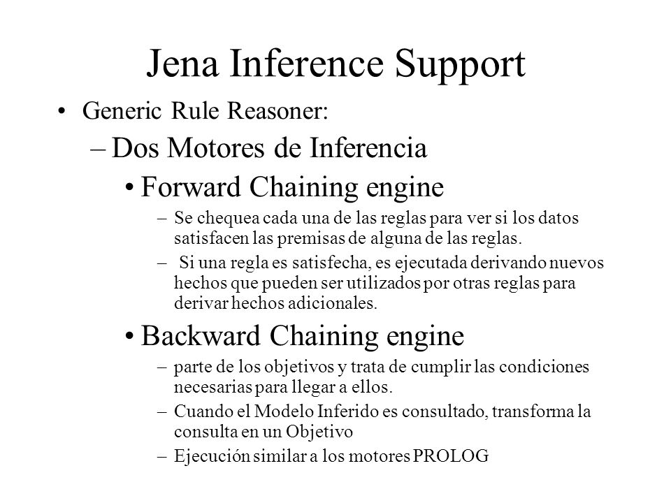Jena Inference Support