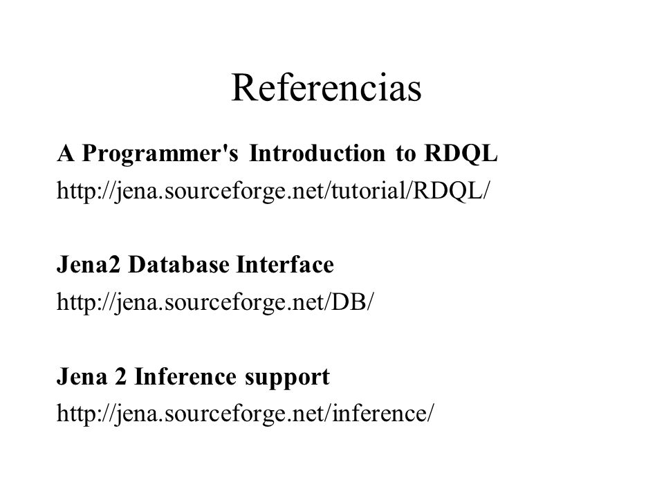 Referencias A Programmer s Introduction to RDQL