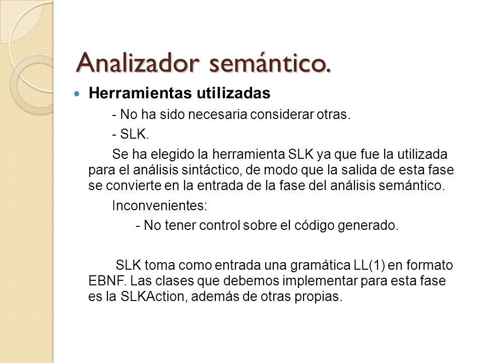Analizador semántico. Herramientas utilizadas