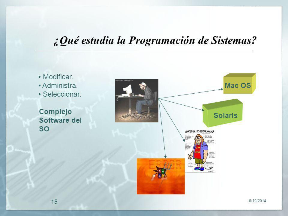¿Qué estudia la Programación de Sistemas
