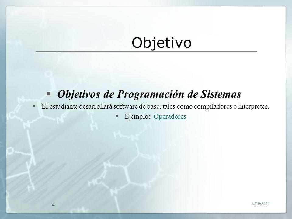 Objetivos de Programación de Sistemas