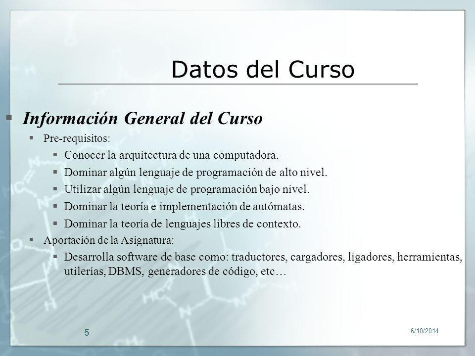 Datos del Curso Información General del Curso