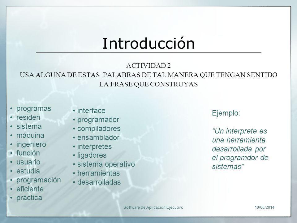 Introducción programas residen sistema máquina ingeniero función