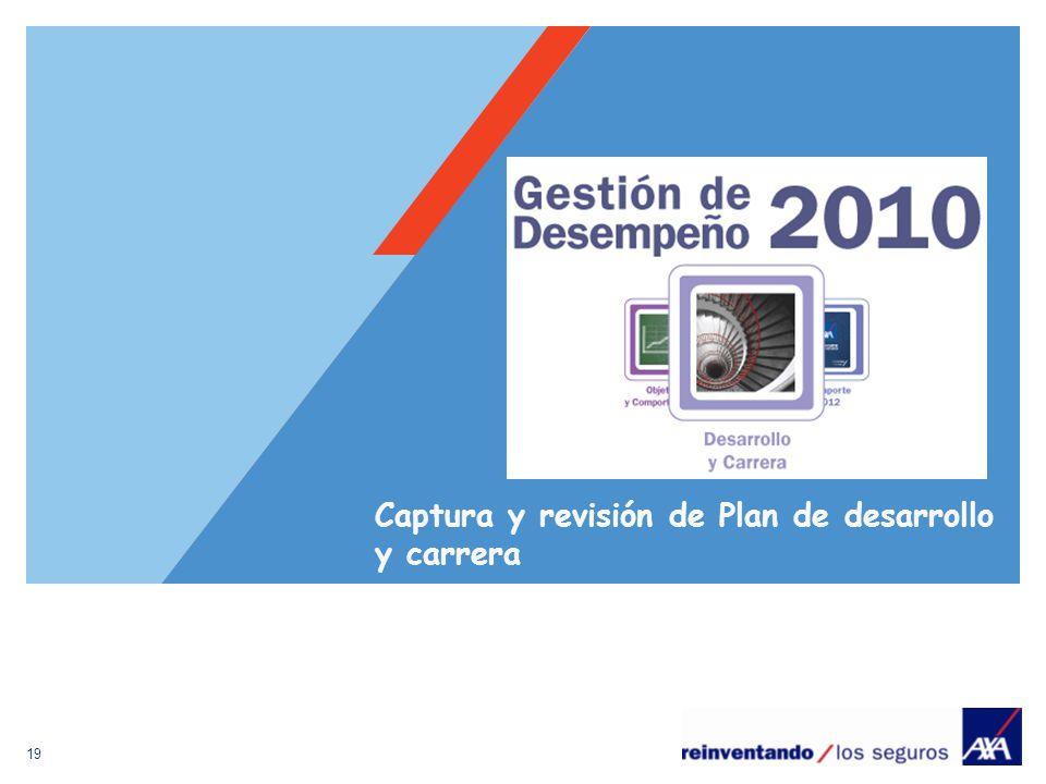 Captura y revisión de Plan de desarrollo