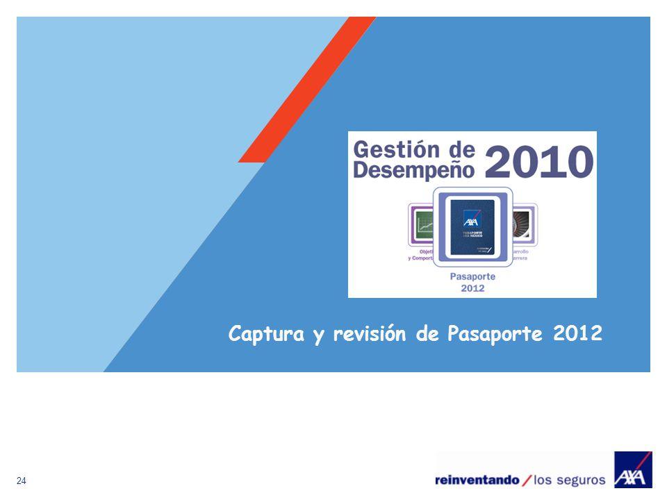 Captura y revisión de Pasaporte 2012