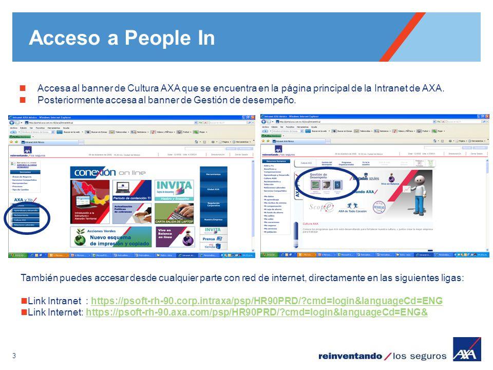 Acceso a People In Accesa al banner de Cultura AXA que se encuentra en la página principal de la Intranet de AXA.