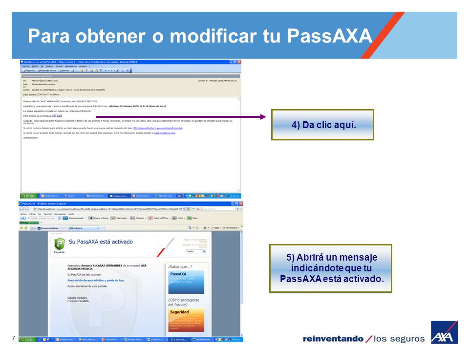 Para obtener o modificar tu PassAXA