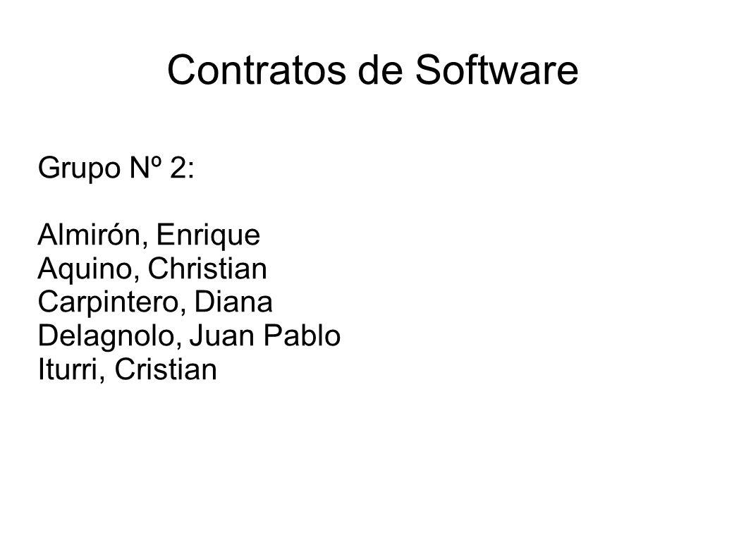 Contratos de Software Grupo Nº 2: Almirón, Enrique Aquino, Christian