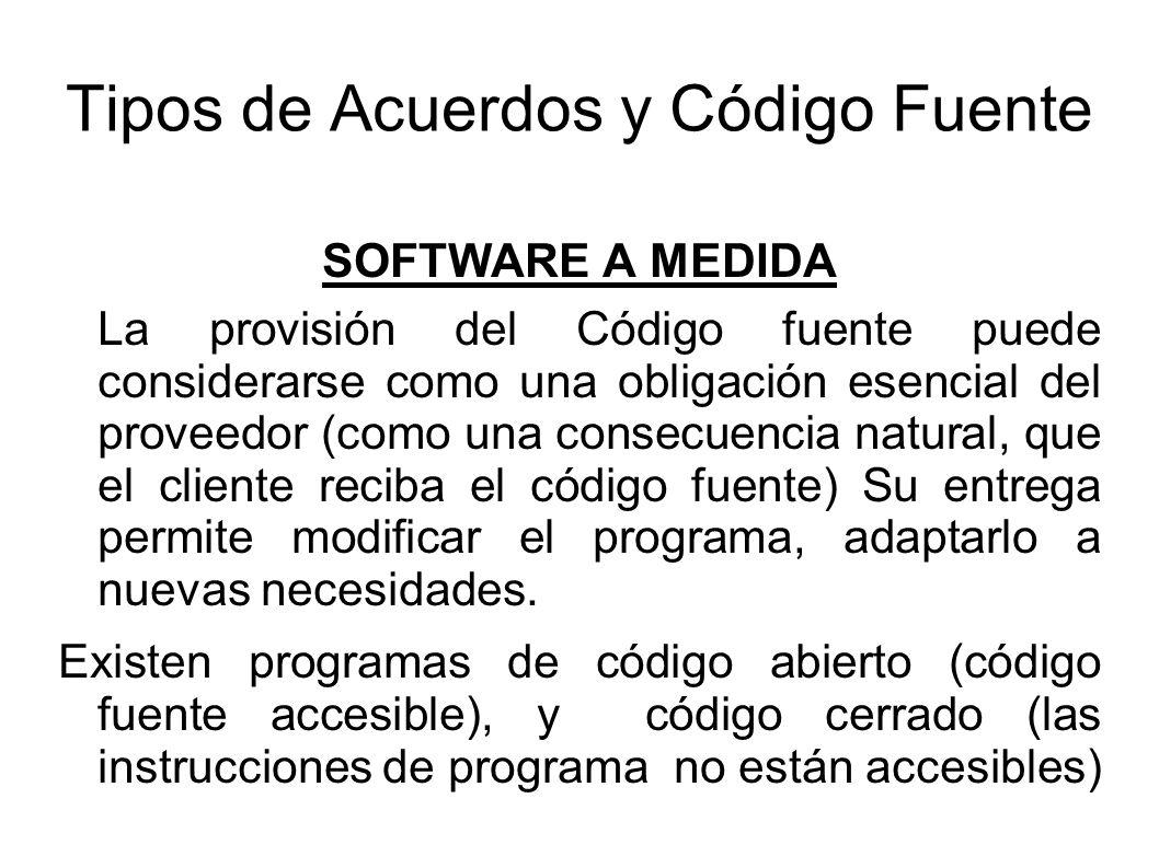 Tipos de Acuerdos y Código Fuente